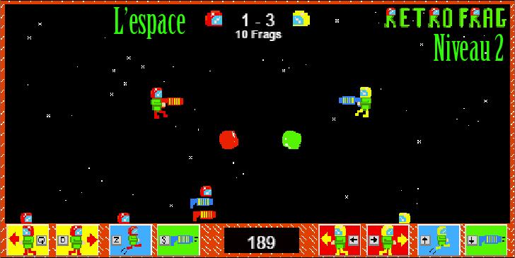 Jeux 2 joueurs 1 clavier HTML5